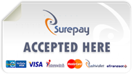 Surepay Accepted here!! - We  accept payments via Interswitch, Etranzact, Mastercard and VISA!